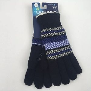 isotoner Accessories - Isotoner Dri Knit Gloves Faux Fur Lining New OS